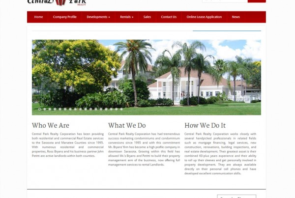 Web Design for Central Park Realty