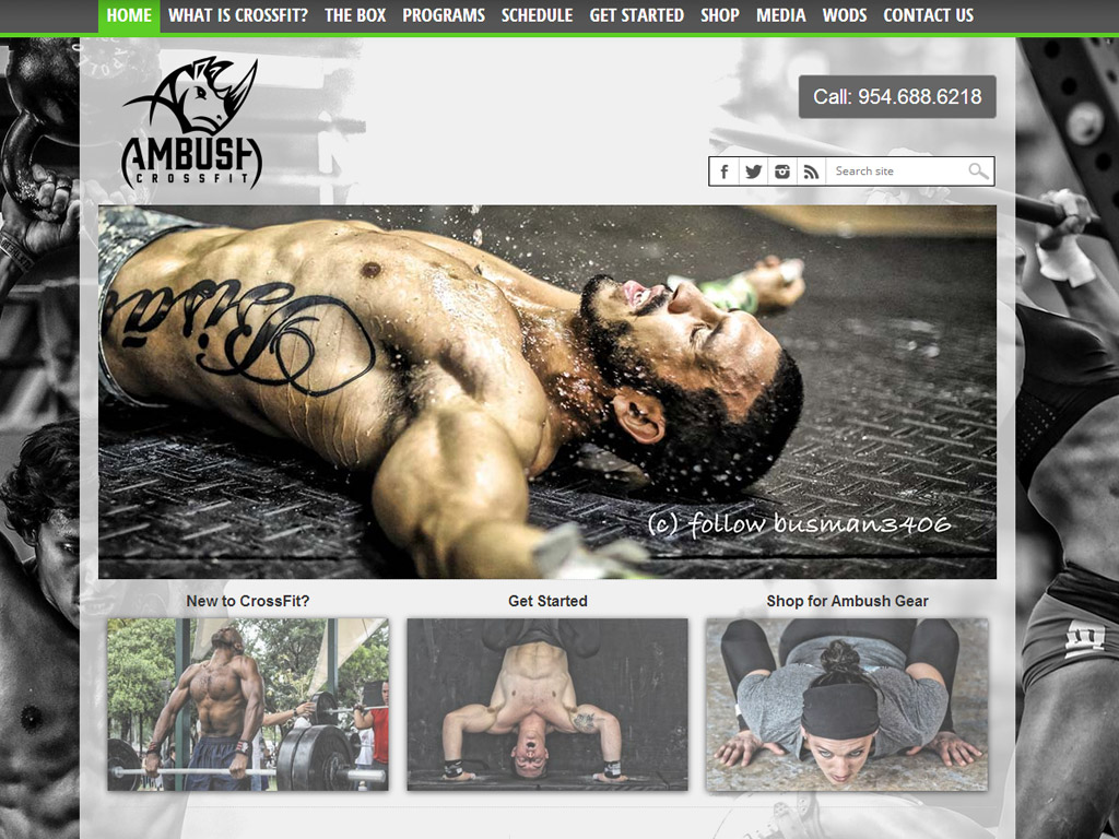 Web Design for CrossFit Ambush, Coral Springs, FL