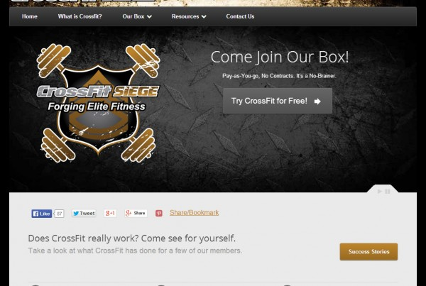 Web Design - CrossFit Siege