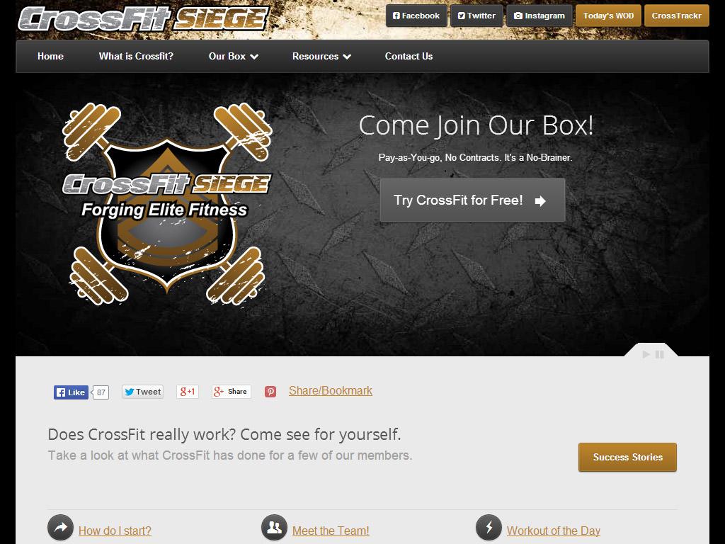Web Design - CrossFit Siege
