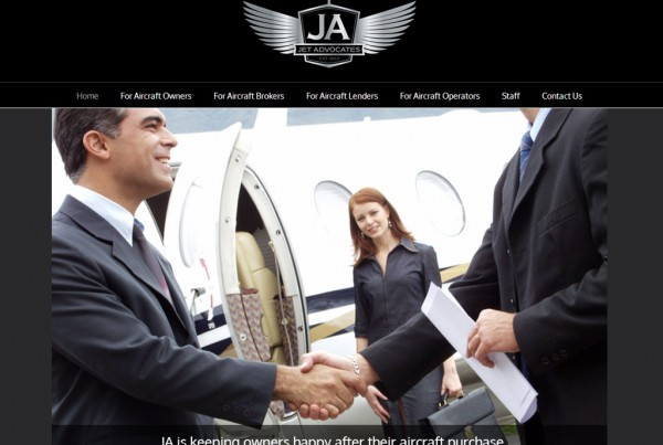 Web Design for Jet Advocates