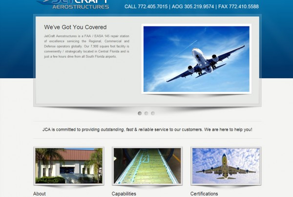 Web Design for Jetcraft Aerostructures