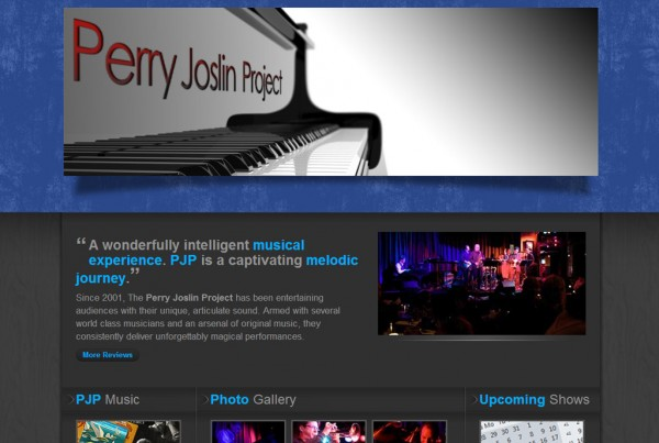 Web Design for Perry Joslin Project
