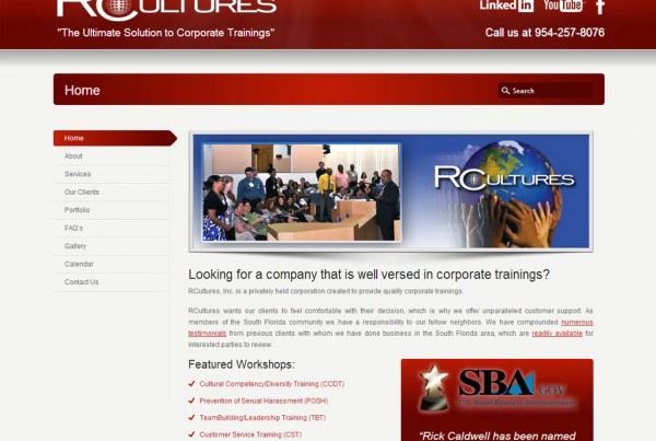 Web Design for RCultures