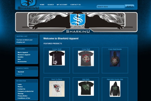 Web Design for SharkinU