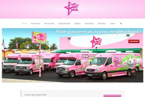 Web Design for Super Star Mobile Grooming